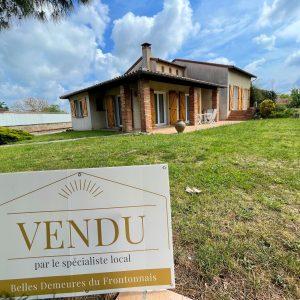 Maison vendue vite et au meilleur prix par la meilleure agence immobilière d'aucamville : Belles Demeures du Frontonnais